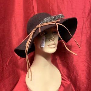 Merona Feathered Wool Hat NWT